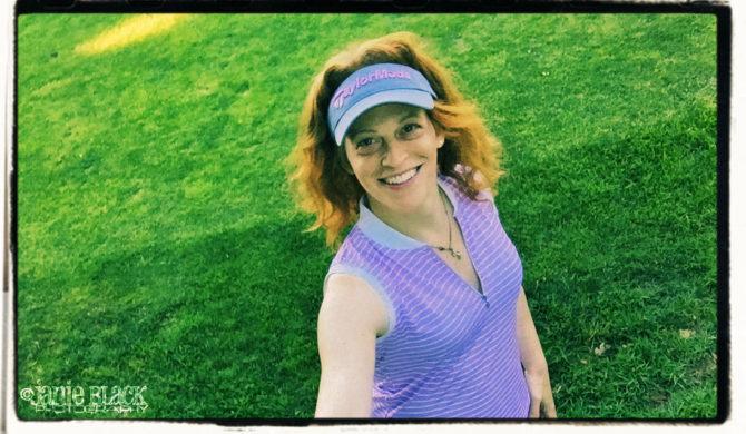 janie golfing happier